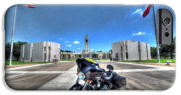 Wwi iPhone Cases - Patriot Guard Rider at the Houston National Cemetery iPhone Case by David Morefield
