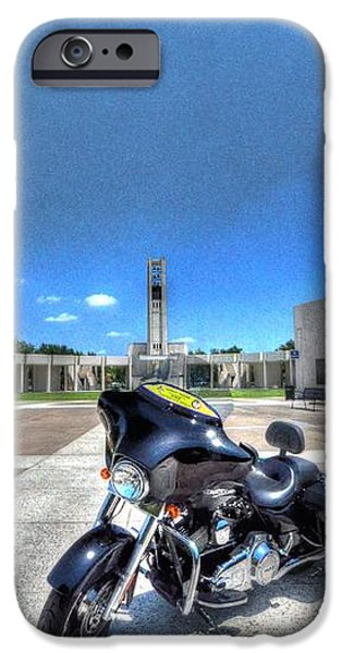 Patriot Guard Rider at the Houston National Cemetery iPhone Case by David Morefield