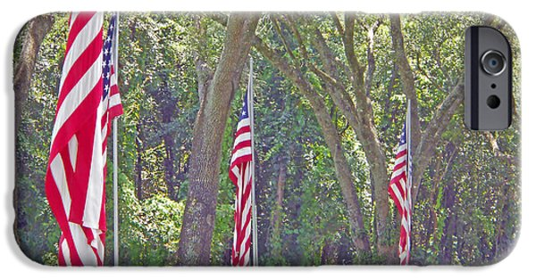 Cemetary iPhone Cases - Patriot Walk iPhone Case by Judy Hall-Folde