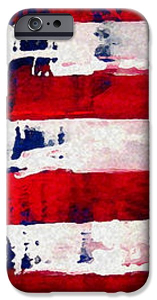 Patriot's Theme iPhone Case by Charles Jos Biviano