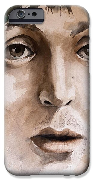 Paul Mccartney Paintings iPhone Cases - Paul iPhone Case by Michael Lang