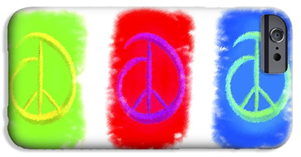 Asymmetrical iPhone Cases - Peace iPhone Case by Kenneth Krolikowski