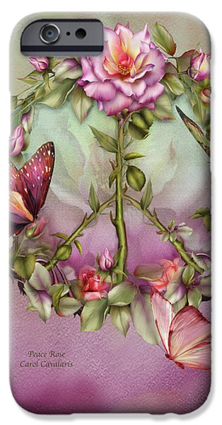 Giclee Mixed Media iPhone Cases - Peace Rose iPhone Case by Carol Cavalaris