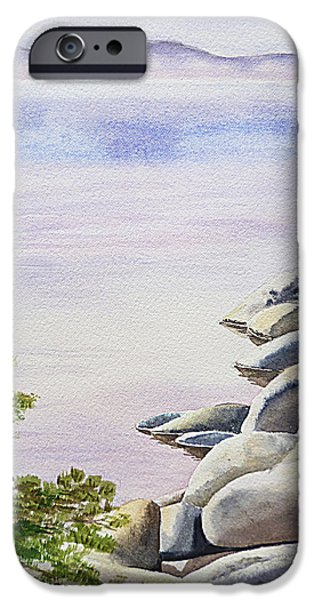 Peaceful Place Morning at The Lake iPhone Case by Irina Sztukowski