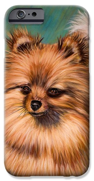 Animal Cards Pastels iPhone Cases - Peaches and Cream iPhone Case by Michelle Wrighton