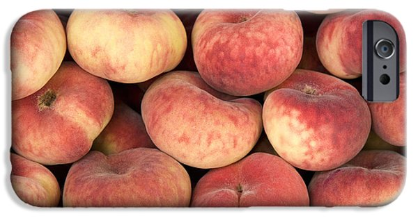 Agriculture iPhone Cases - Peaches iPhone Case by Jane Rix