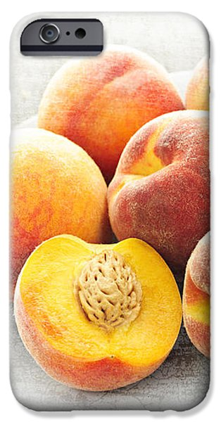 Peaches on plate iPhone Case by Elena Elisseeva