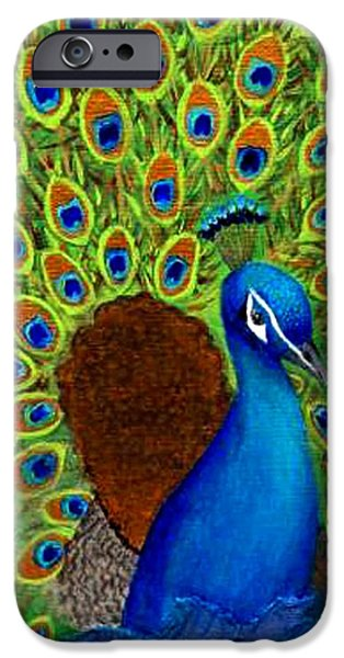 Charlotte Mixed Media iPhone Cases - Peacocks Delight iPhone Case by The Art With A Heart By Charlotte Phillips