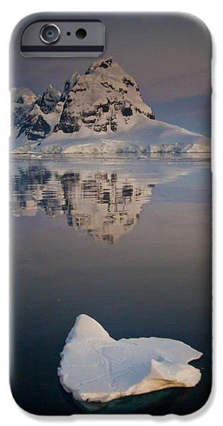 Peak On Wiencke Island Antarctic iPhone Case by Colin Monteath