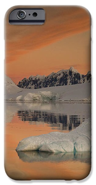 Peaks At Sunset Wiencke Island iPhone Case by Colin Monteath