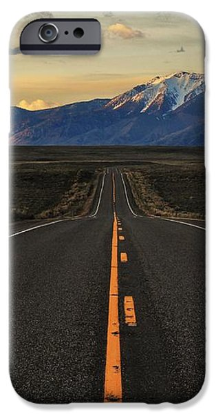 Peaks to Craters Highway iPhone Case by Benjamin Yeager