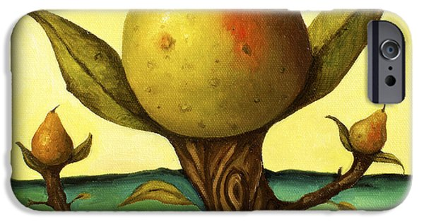 Pear Tree Paintings iPhone Cases - Pear Trees 2 iPhone Case by Leah Saulnier The Painting Maniac
