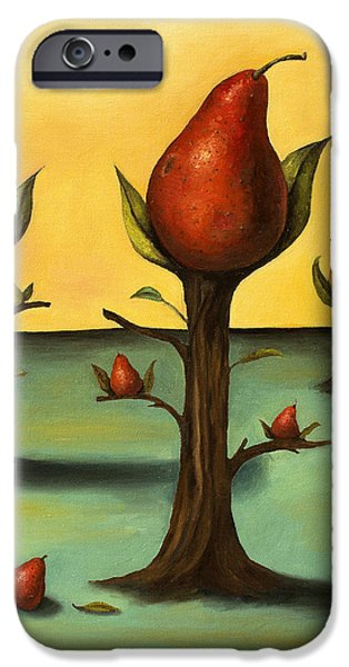 Pear Tree Paintings iPhone Cases - Pear Trees 3 iPhone Case by Leah Saulnier The Painting Maniac