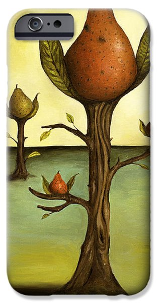 Pear Tree Paintings iPhone Cases - Pear Trees iPhone Case by Leah Saulnier The Painting Maniac