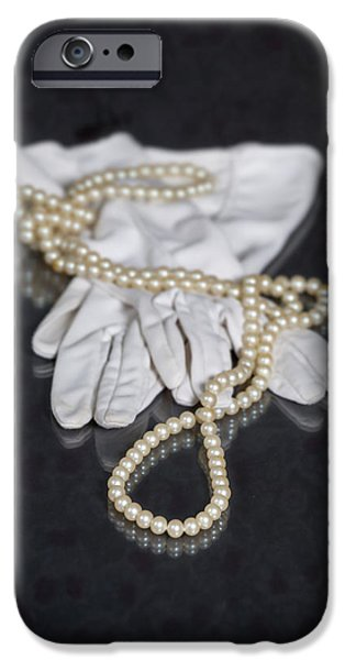 Accessories iPhone Cases - Pearls And Gloves iPhone Case by Joana Kruse
