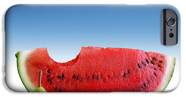 Biting iPhone Cases - Pears and Melon iPhone Case by Carlos Caetano
