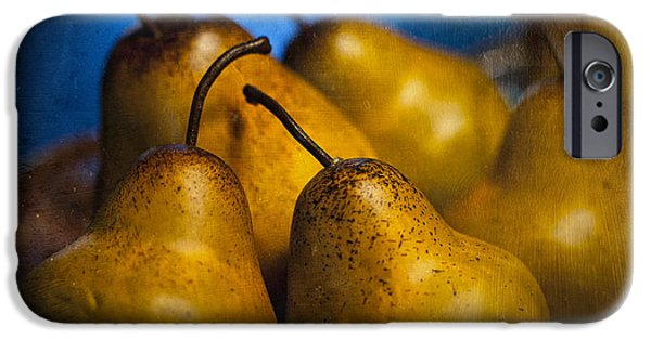 Indoor Still Life iPhone Cases - Pears Waiting iPhone Case by Scott Norris