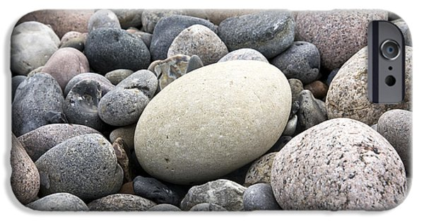 Close Up iPhone Cases - Pebbles iPhone Case by Frank Tschakert