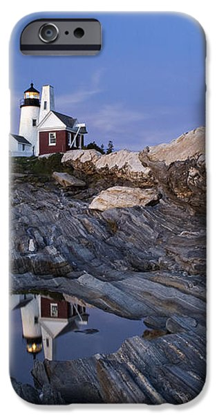 Pemaquid Point Lighthouse - D002139 iPhone Case by Daniel Dempster