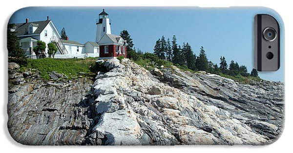 Pemaquid Lighthouse iPhone Cases - Pemaquid Point Lighthouse iPhone Case by Ted Kinsman