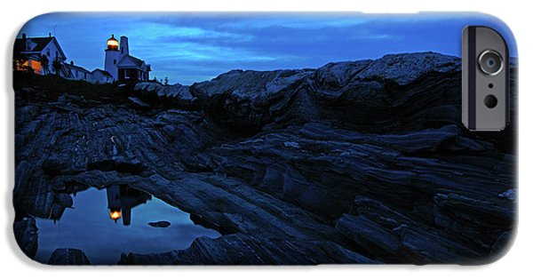 Pemaquid Lighthouse iPhone Cases - Pemaquid Reflections iPhone Case by Rick Berk