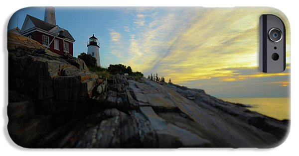 Pemaquid Lighthouse iPhone Cases - Pemaquid Sunrise iPhone Case by Rick Berk