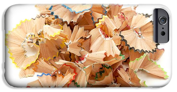 Cut-outs iPhone Cases - Pencil shavings iPhone Case by Fabrizio Troiani