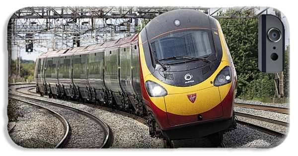 Upgrade iPhone Cases - Pendolino Tilting Train iPhone Case by Martin Bond