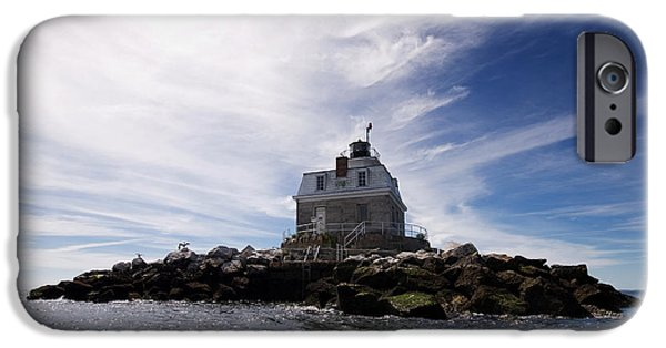 New England Lighthouse iPhone Cases - Penfield Reef Lighthouse iPhone Case by Stephanie McDowell