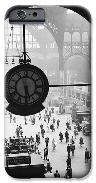 Science Collection - iPhone Cases - Penn Station Clock iPhone Case by Van D Bucher and Photo Researchers