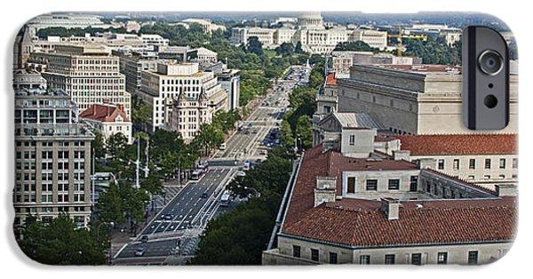 D.c. iPhone Cases - Pennsylvania Avenue - Washington DC iPhone Case by Brendan Reals