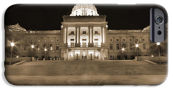 Patriots iPhone Cases - Pennsylvania State Capitol iPhone Case by Shelley Neff