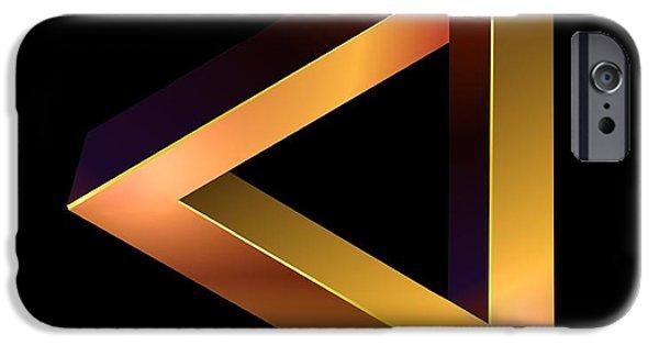 Mobius Strip iPhone Cases - Penrose Tribar, Artwork iPhone Case by Studio Macbeth