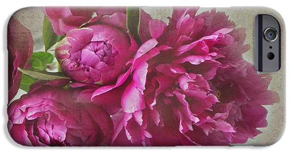 Pinks iPhone Cases - Peonies iPhone Case by Rebecca Cozart