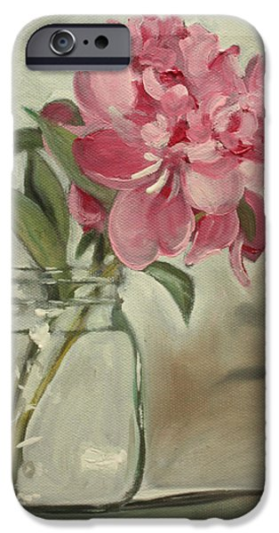 Still Life iPhone Cases - Peony iPhone Case by Sarah Lynch
