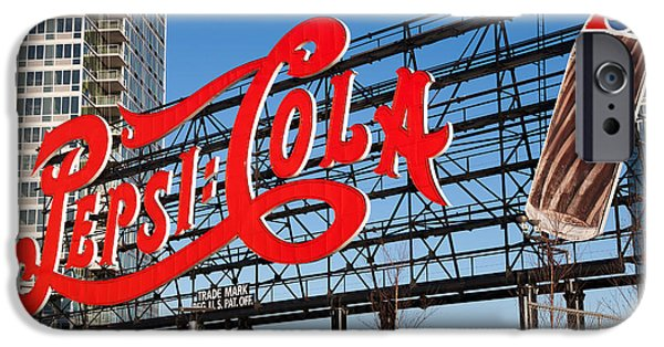 Empire State iPhone Cases - Pepsi-Cola Sign I iPhone Case by Clarence Holmes