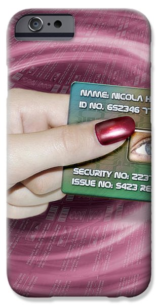 Personal Id Card iPhone Case by Victor Habbick Visions