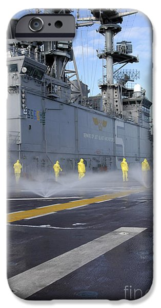 Raincoat iPhone Cases - Personnel Conduct Aqueous Film Forming iPhone Case by Stocktrek Images