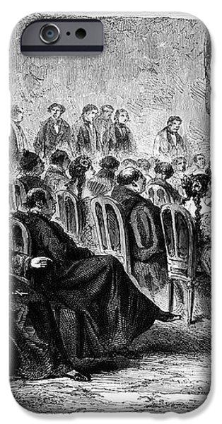 PERU: THEATER, 1869 iPhone Case by Granger