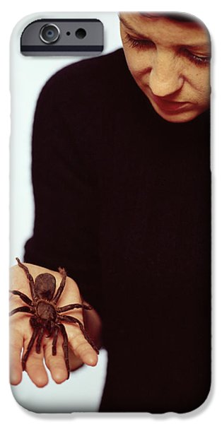 Arachnida iPhone Cases - Pet Tarantula iPhone Case by Lawrence Lawry
