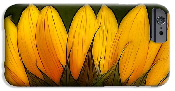 Close Up Floral iPhone Cases - Petales de Soleil - a12 iPhone Case by Variance Collections
