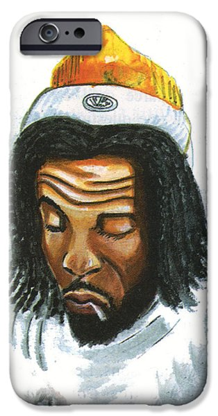 Waiter Drawings iPhone Cases - Peter Tosh iPhone Case by Emmanuel Baliyanga