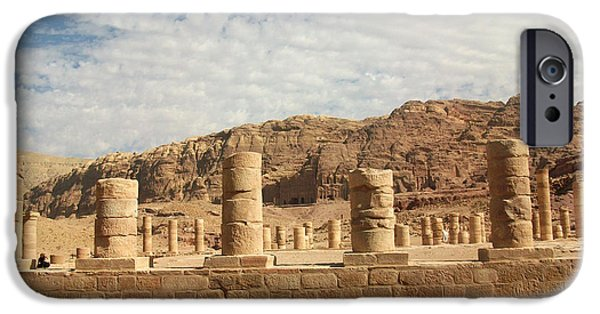 Jordan iPhone Cases - Petra Sky iPhone Case by Munir Alawi