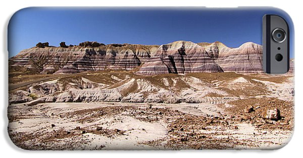Petrified Forest Arizona iPhone Cases - Petrified Painted Desert iPhone Case by Adam Jewell