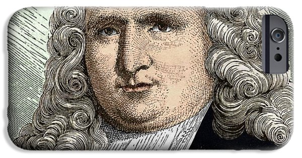Capacitors iPhone Cases - Petrus Van Musschenbroek (1692 - 1761) iPhone Case by Sheila Terry