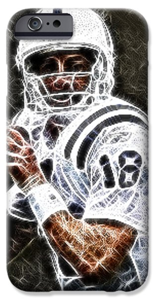 Peyton Manning 18 iPhone Case by Paul Ward