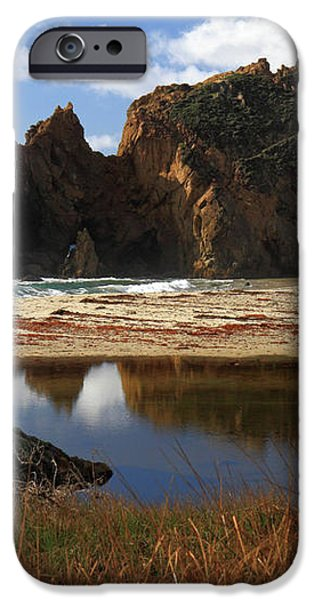 Pfeiffer beach landscape in Big Sur iPhone Case by Pierre Leclerc Photography