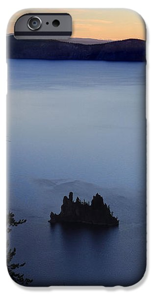 Phantom Ship sunrise at Crater Lake iPhone Case by Pierre Leclerc Photography