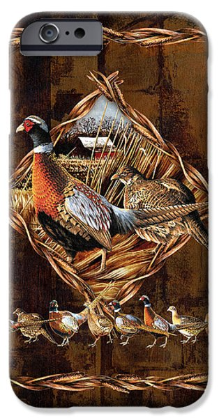 Pheasant iPhone Cases - Pheasant Lodge iPhone Case by JQ Licensing
