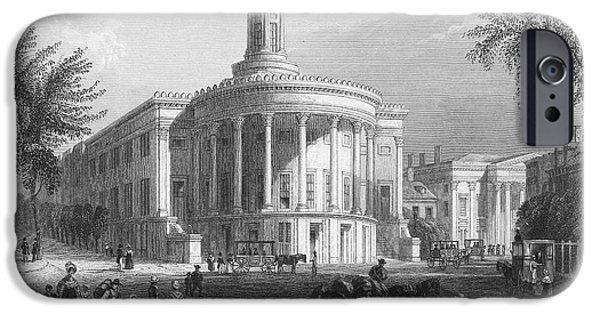1839 iPhone Cases - Philadelphia, 1839 iPhone Case by Granger